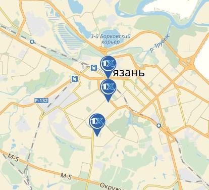 «1xbet» в Рязани на карте
