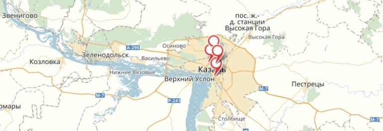 1xbet - Казань. Адреса ППС на карте
