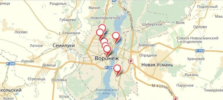«1xbet» - Воронеж. Адреса на карте