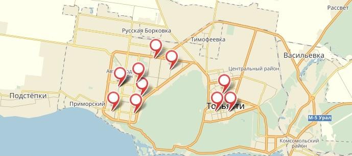 «1xbet» - Тольятти. Адреса на карте