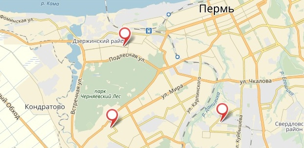 «1xbet». Пермь. Адреса на карте
