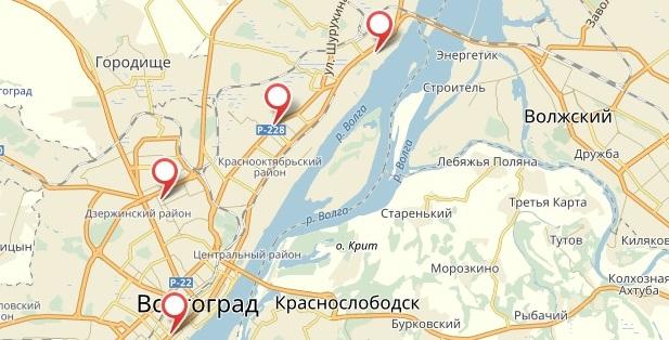 Карта. Букмекерская контора «1xbet» в Волгограде (на карте)