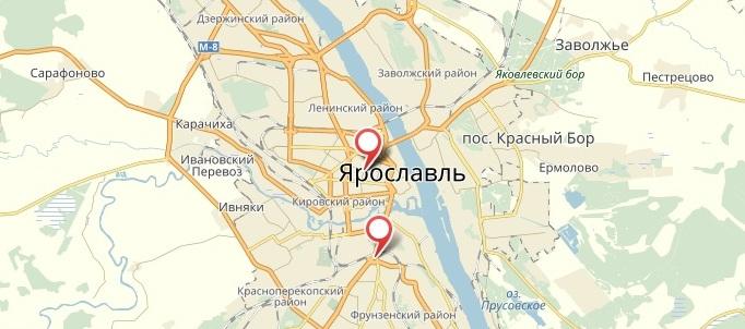 «1xbet». Ярославль. Адреса ППС (на карте)