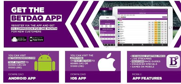 БК Betdaq - мобильные приложения