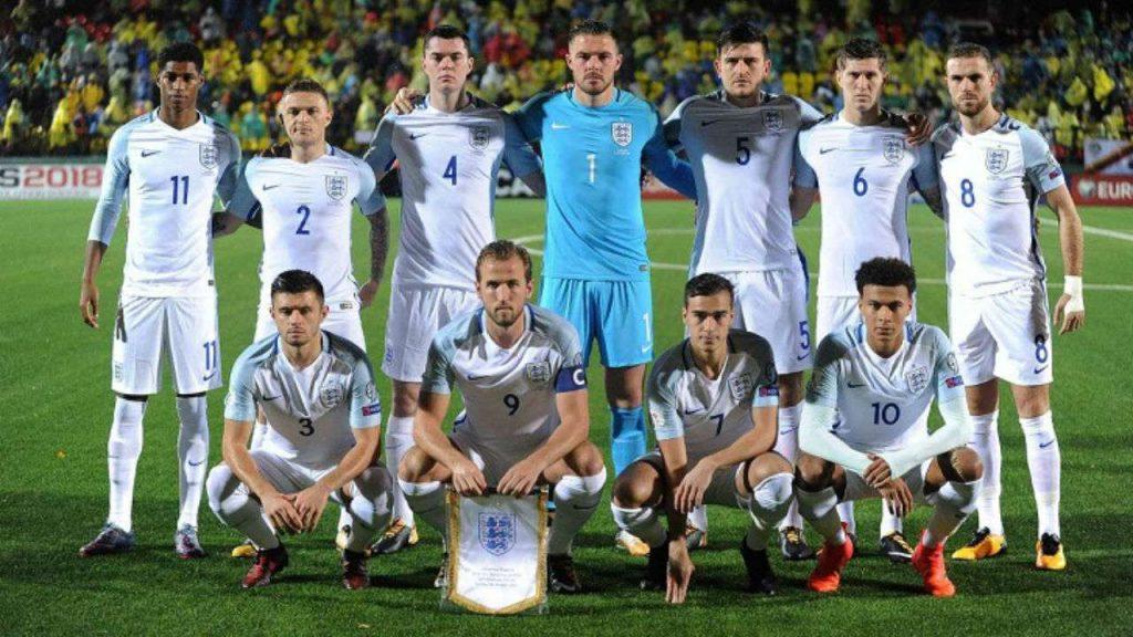 Команда Англии