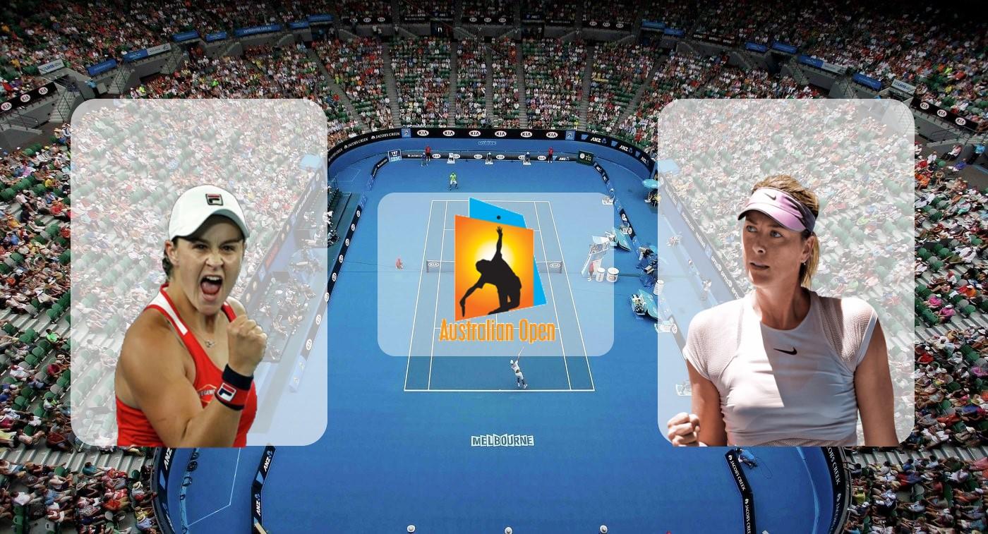 Эшли Барти – Мария Шарапова. Прогноз на матч Australian Open 20.01.2019
