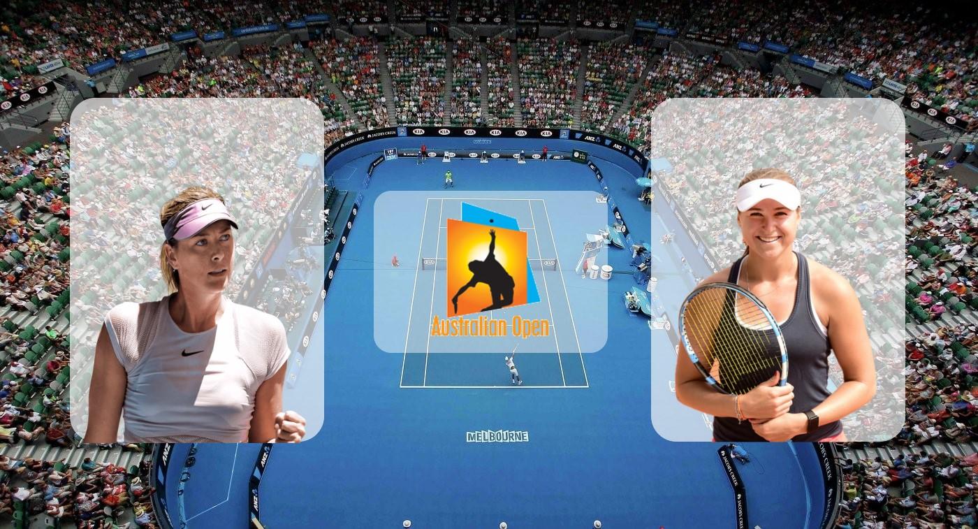 Мария Шарапова – Ребекка Петерсон. Прогноз на матч Australian Open 16.01.2019