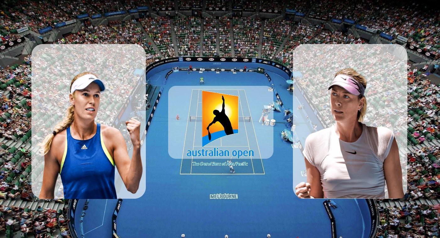 Мария Шарапова – Каролина Возняцки. Прогноз на матч Australian Open 18.01.2019