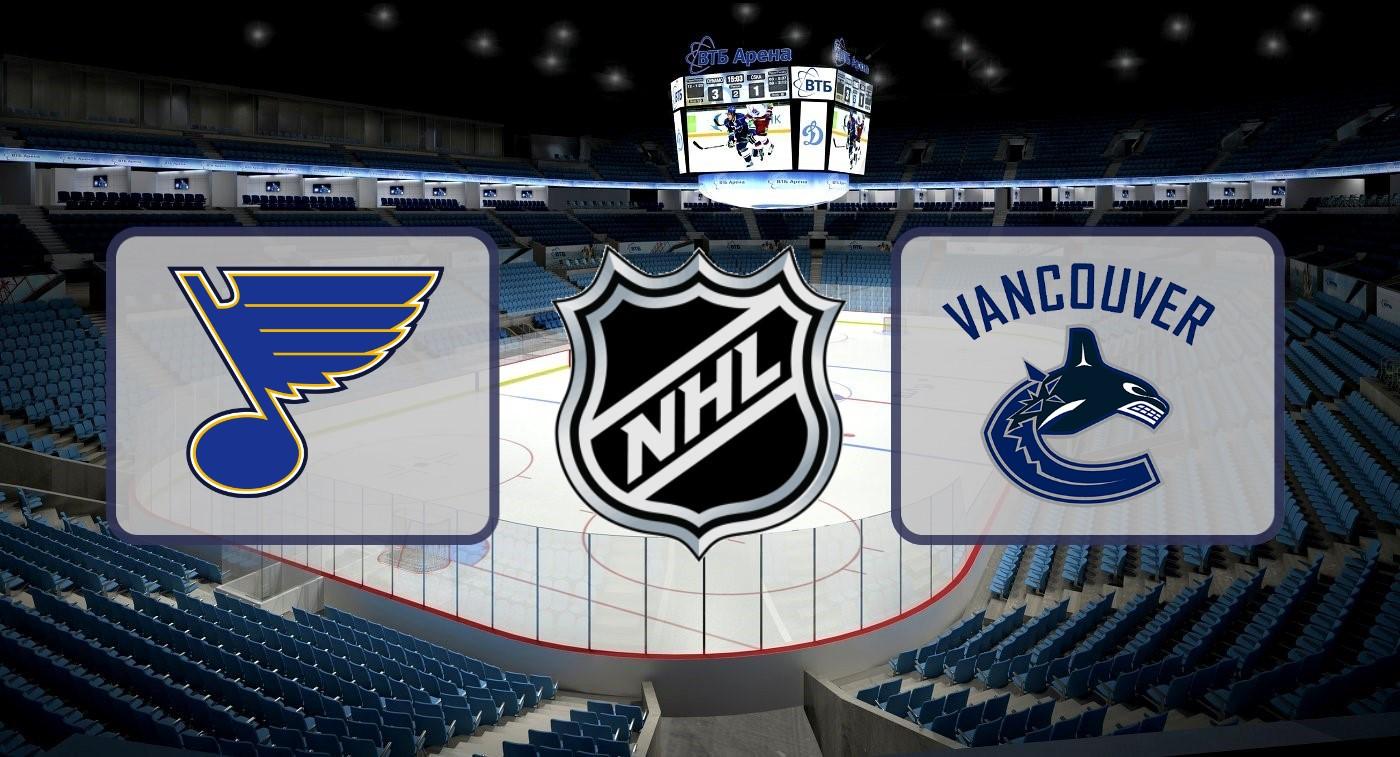 """Сент-Луис"" – ""Ванкувер"". Прогноз на матч НХЛ 06.04.2019"