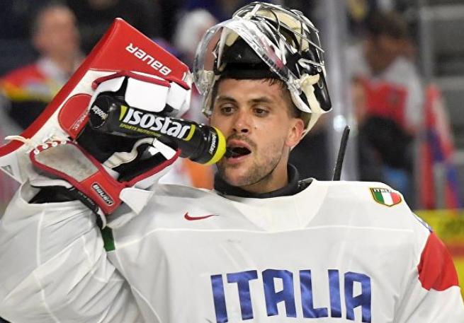 Сборная Италии по хоккею. Вратарь Андрес Бернард