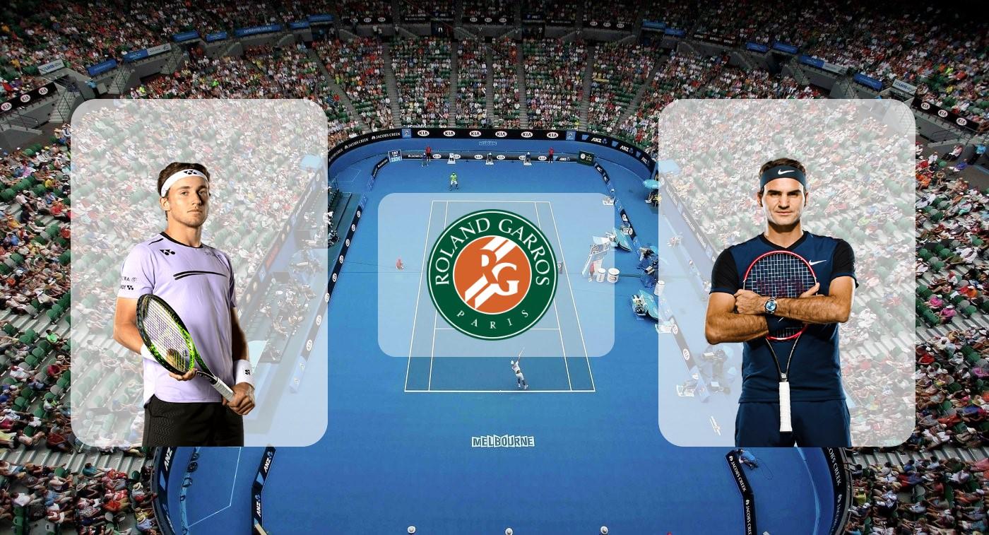 Каспер Рууд – Роджер Федерер. Прогноз на матч Ролан Гаррос 31.05.2019
