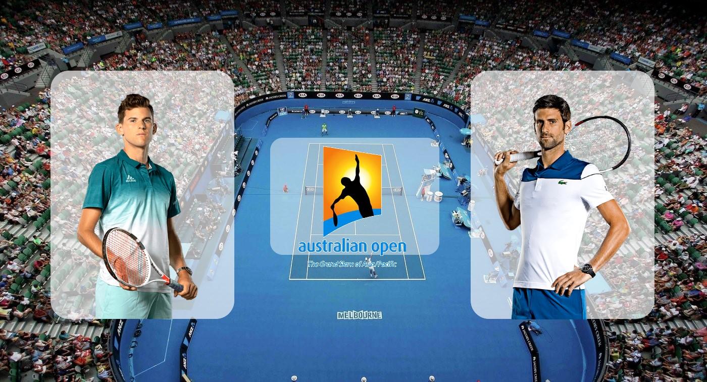 Доминик Тим – Новак Джокович. Прогноз на финал Australian Open 02.02.2020