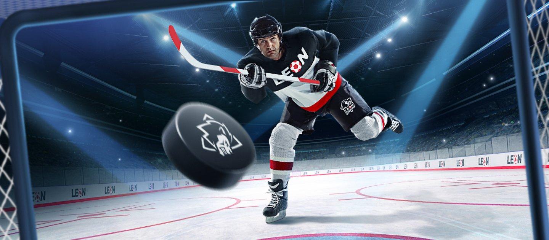 Леон выдает призовой фонд в 100000 рублей за ставки на хоккейные матчи